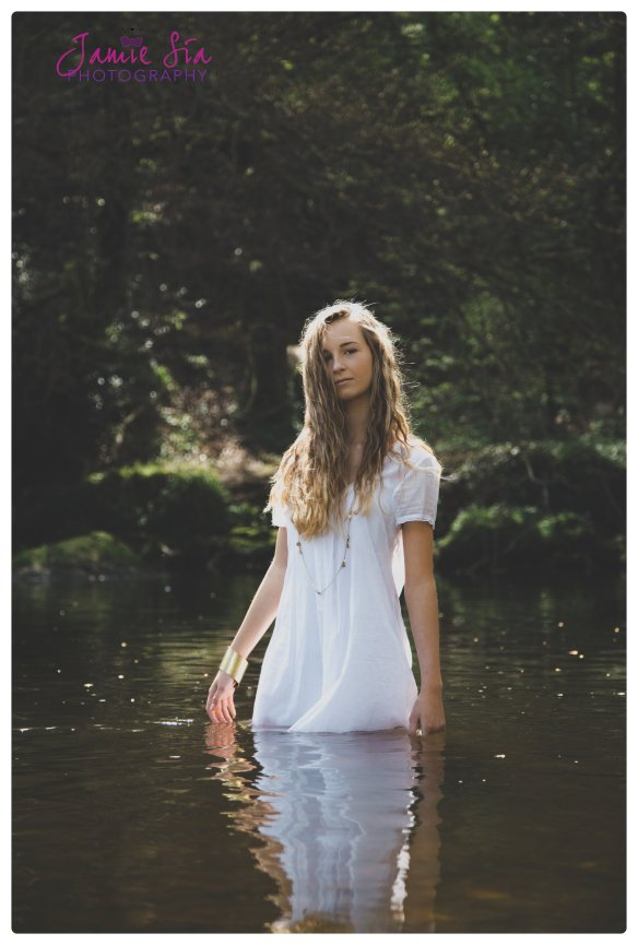 Model shoot at Knaresborough River Nidd Shot by Jamie Sia Photography UK and Destination Wedding and Lifestyle Photograher for Yorkshire and Beyond